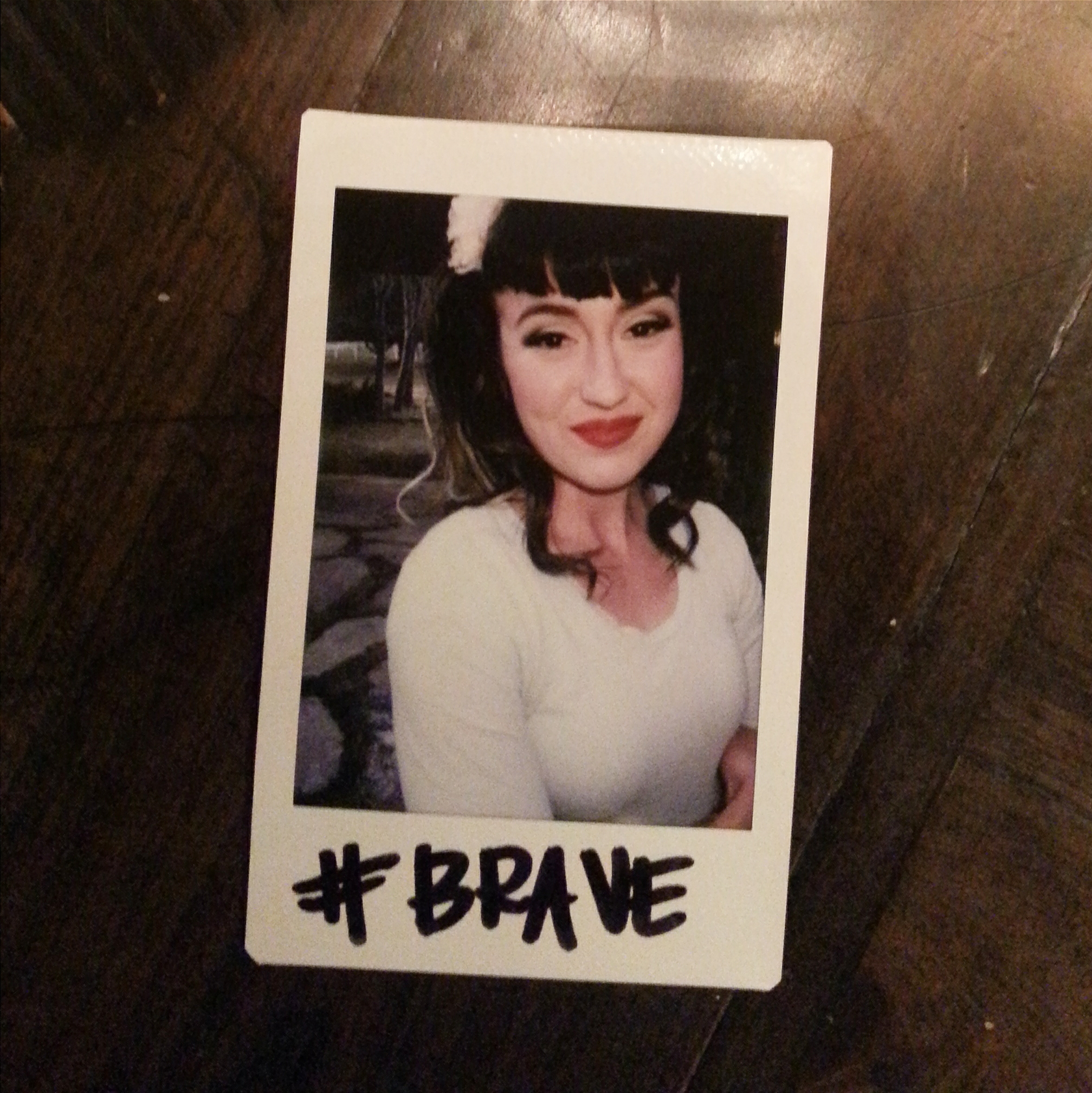 After someone else pampered me with doing my makeup and hair, I got some photos taken too. I noticed all the other takeaway Polaroids, and they all said #Brave. As I watched her write out mine, I noticed it said #BRAVE. I told her how much I loved that she put mine in caps. She then mentioned how the other way just didn't feel right...I still struggle with seeing the same thing in me everyone else does. I like to believe that is normal. I pray I can be the BRAVE person others believe I am.